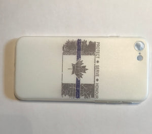 Thin Blue Line Canada Silicone Phone Cases! (Please email us if you do not see your phone's model and we'll let you know if we can produce it)