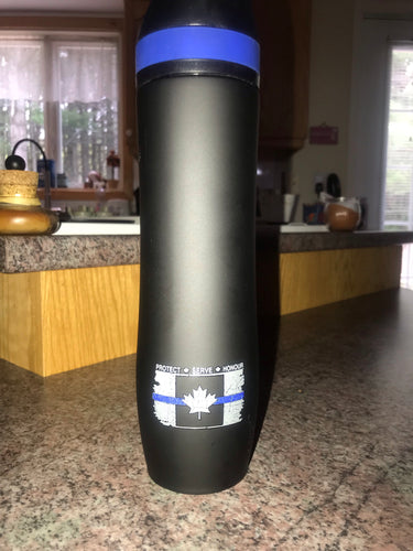 Thin Blue Line Canada 20 oz Persona® Wave Vacuum Water Bottle