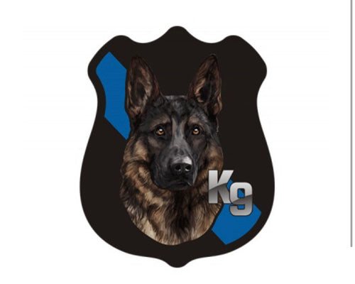 "German Shepherd Thin Blue Line Police Badge 3 "" Sticker/ Decal 3"