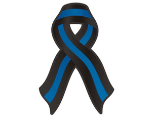 "Thin Blue Line Ribbon Decal Police Sheriff Memorial 3 "" Vinyl Sticker / Decal"