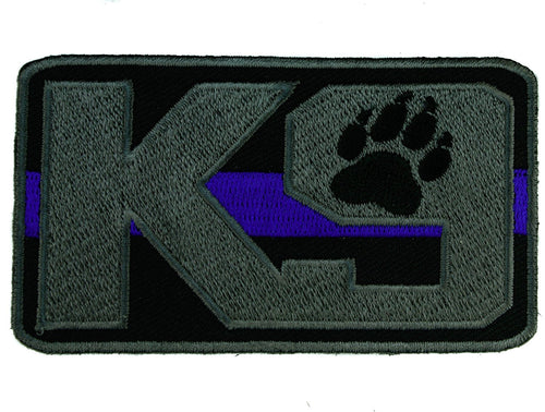 K9 Dog Thin Blue Line Law Enforcement 2x3.5 inch Patch