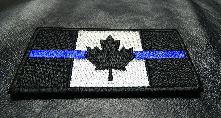 Classic Thin Blue Line Canada Flag Patch