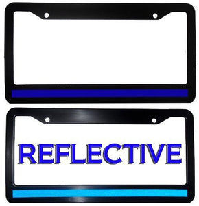 Thin Blue Line License Plate Frame