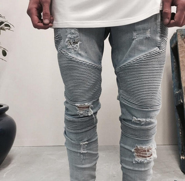 Skinny Destroyed Jeans - Cargobayy