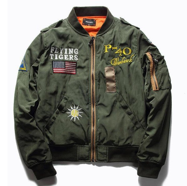 Military Flight Bomber Jacket - Cargobayy