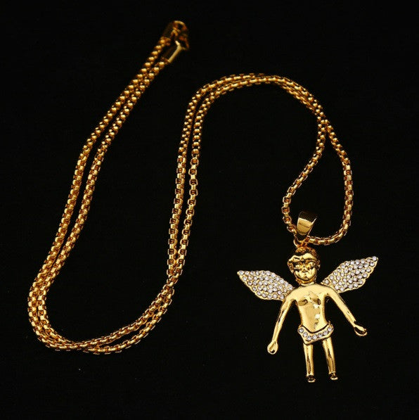 Edgy Cherub Angel Chain - Cargobayy