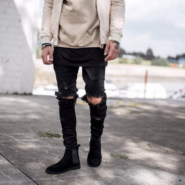 Destroyed Ripped Skinny Jeans - Cargobayy