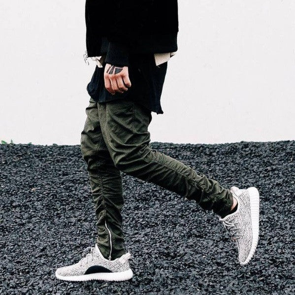 Casual Joggers w/ Zippers