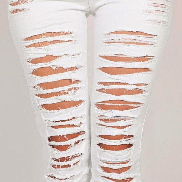 Belle Stretchy Ripped Jeans - Cargobayy