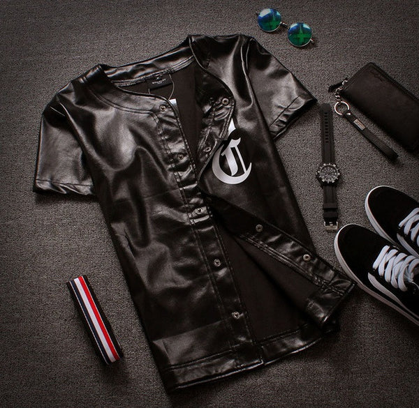 DC Leather Baseball Jersey - Cargobayy