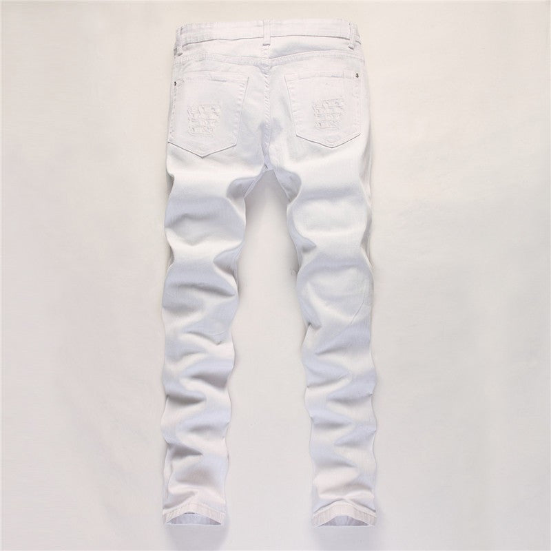 Denim Jeans With Zipper On The Knee - Cargobayy