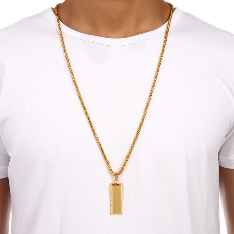 Supreme Gold Bar Chain