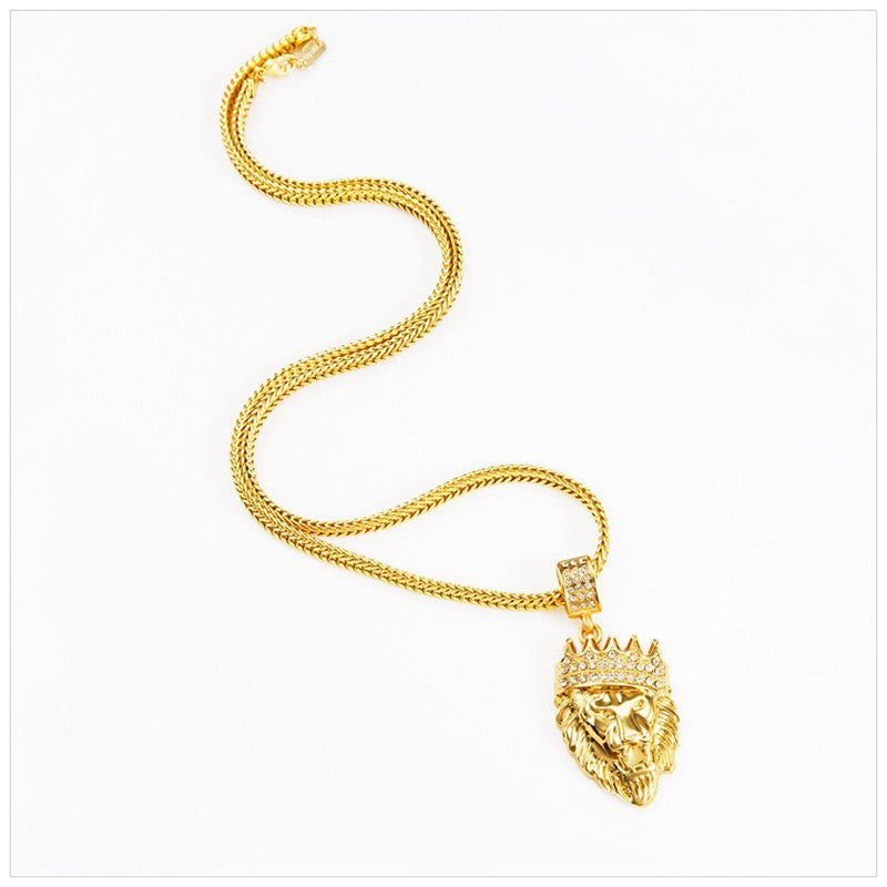 Gold Plated Lion Head Chain