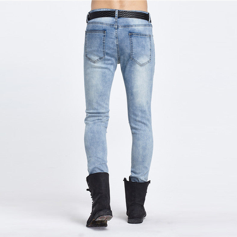 Biker Slim-Fit Ripped Jeans