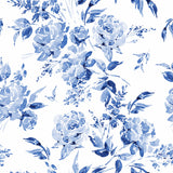 Indigo Floral Wallpaper