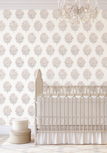 Willow Wallpaper in Blush