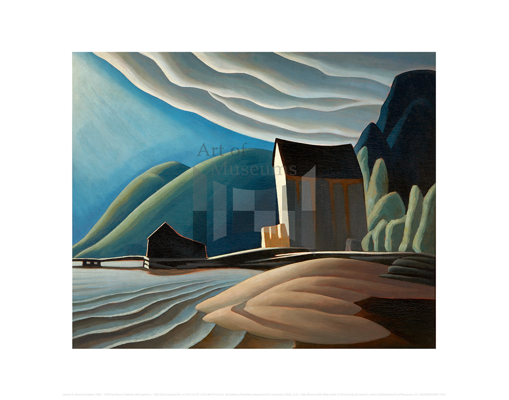 Ice House, Coldwell, Lake Superior, Lawren S. Harris