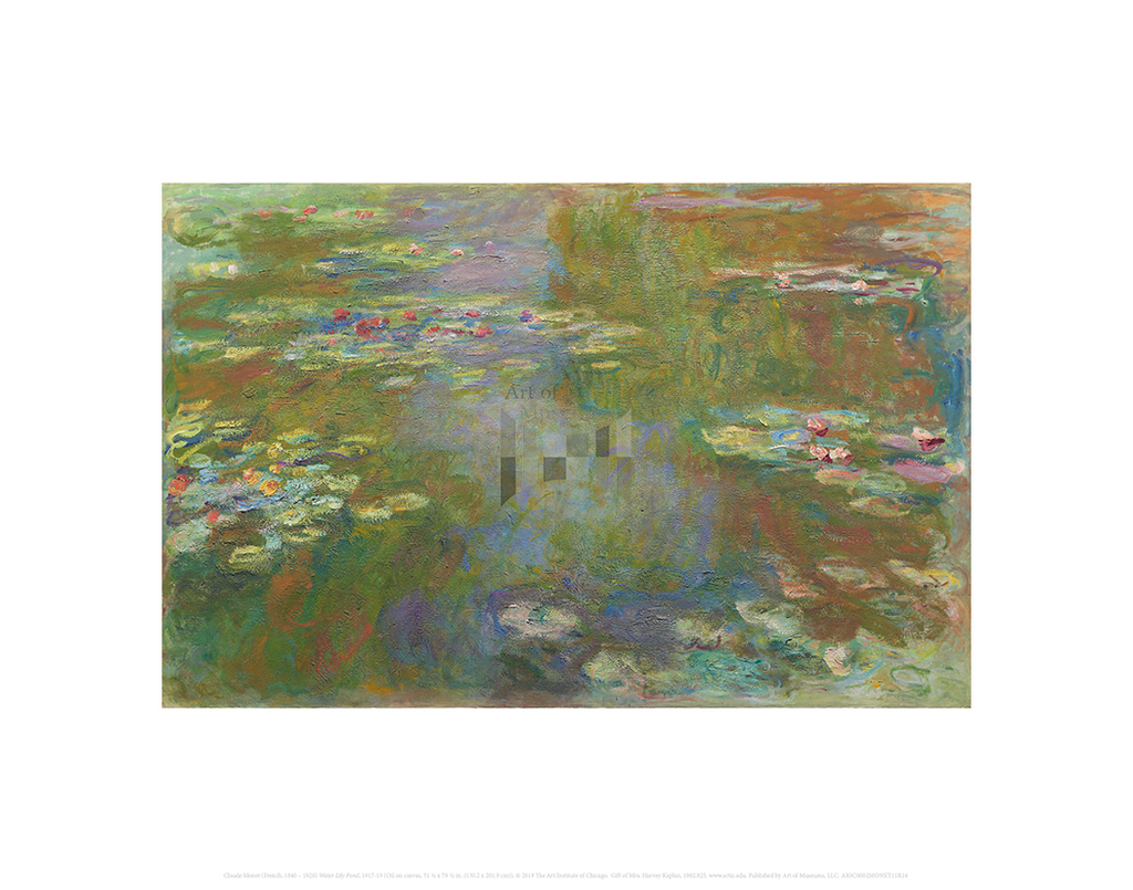 Water Lily Pond, Claude Monet