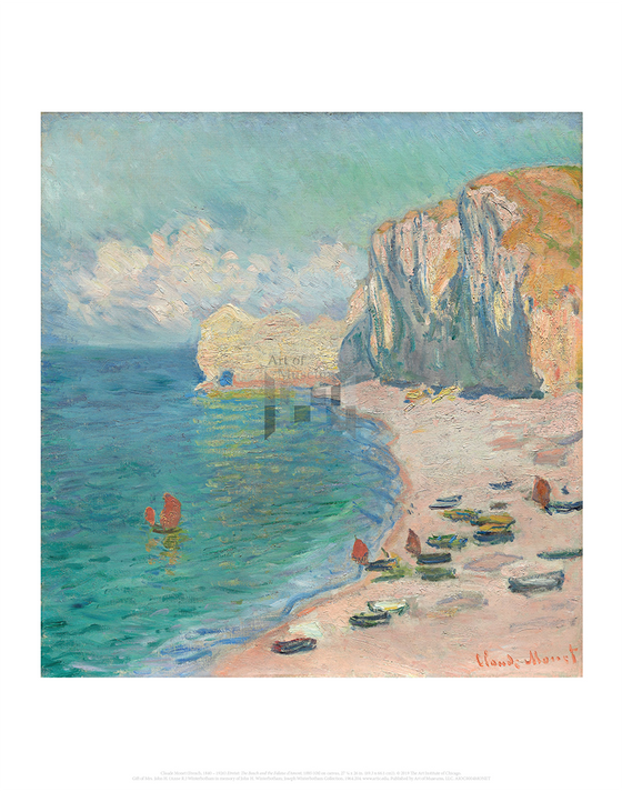 Etretat: The Beach and the Falaise d'Amont, Claude Monet