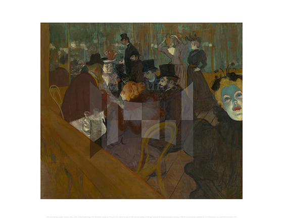 At the Moulin Rouge, Henri de Toulouse-Lautrec