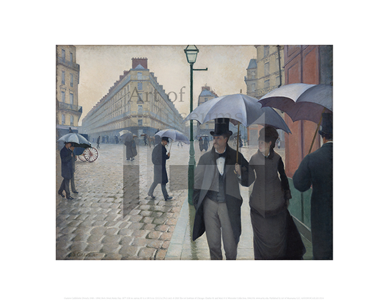 Paris Street; Rainy Day, Gustave Caillebotte