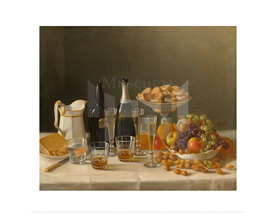 Wine, Cheese, and Fruit, John F. Francis