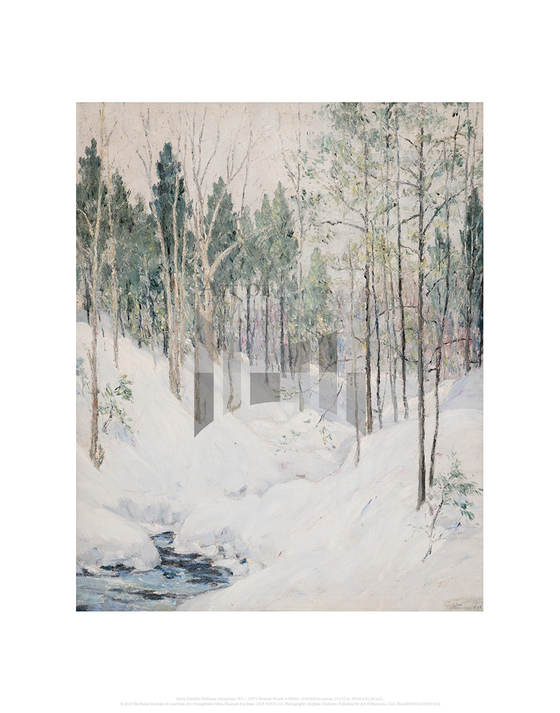 Vermont Woods in Winter, Harry Franklin Waltman