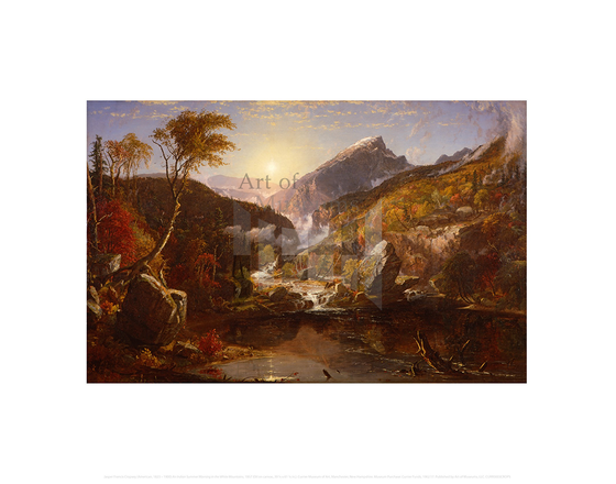 An Indian Summer Morning in the White Mountains, Jasper Francis Cropsey