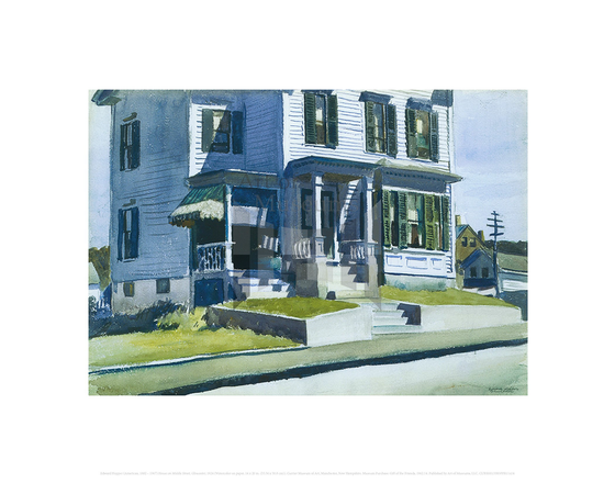 House on Middle Street, Gloucester, Edward Hopper