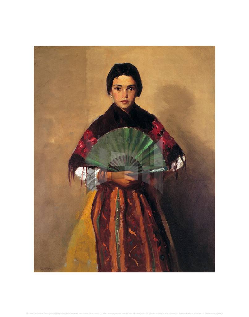 The Green Fan (Girl from Toledo, Spain), Robert Henri