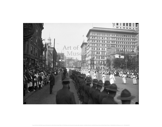 World War I parade, Nursing Service, Main Street, Hartford, May 18, 1918, City of Hartford Connecticut