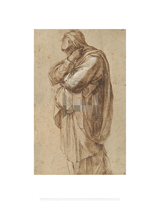 Study of a Mourning Woman, Michelangelo Buonarroti