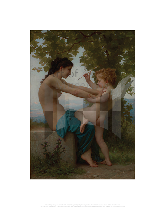 A Young Girl Defending Herself against Eros, William Adolphe Bouguereau