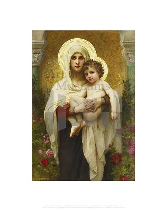 Madonna of the Roses (La Madone aux Roses), William Adolphe Bouguereau