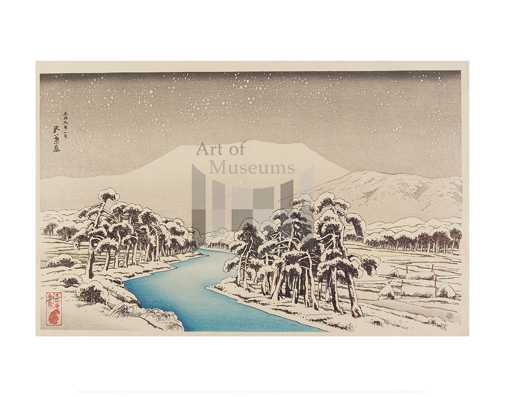Snow on Mount Ibuki, Hashiguchi Goyo