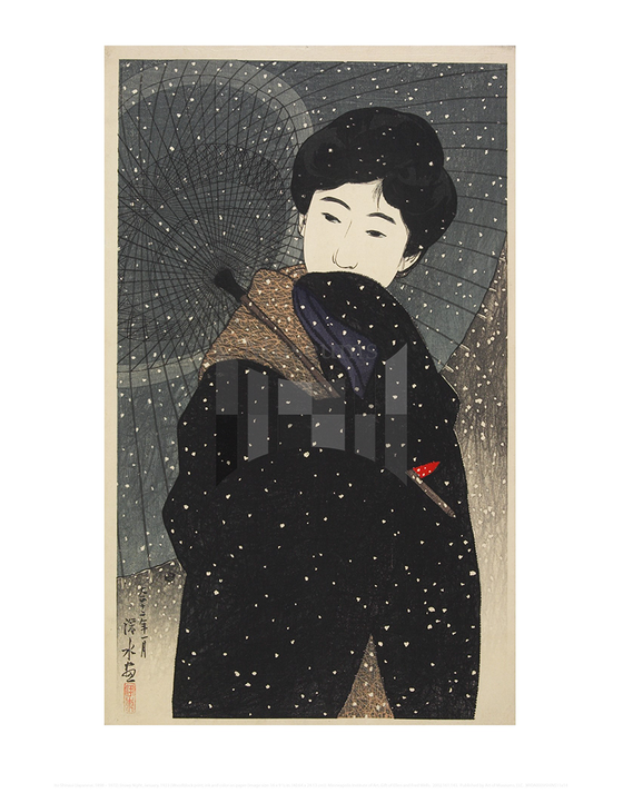 Snowy Night, Ito Shinsui