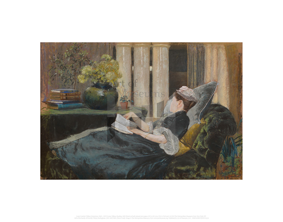 Louise Tiffany, Reading, Louis Comfort Tiffany