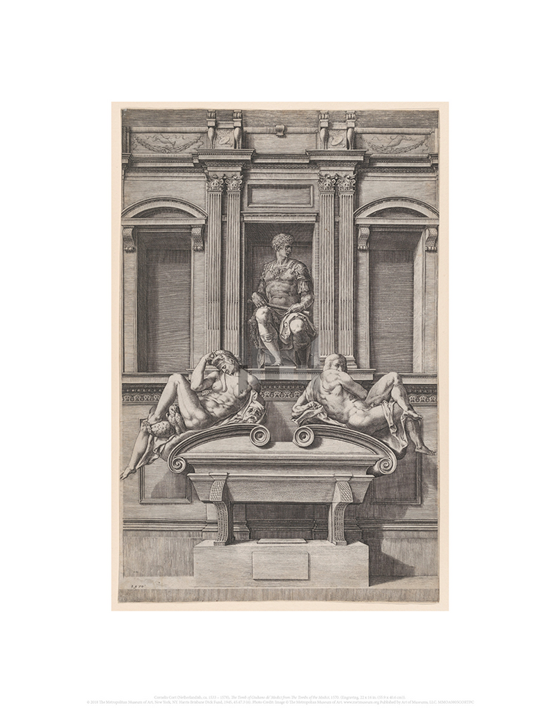 The Tomb of Giuliano de' Medici from The Tombs of the Medici, Cornelis Cort