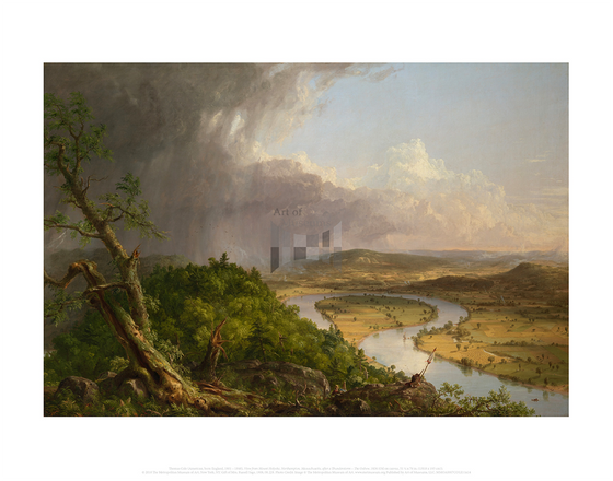View from Mount Holyoke, Northampton, Massachusetts, after a Thunderstorm - The Oxbow, Thomas Cole