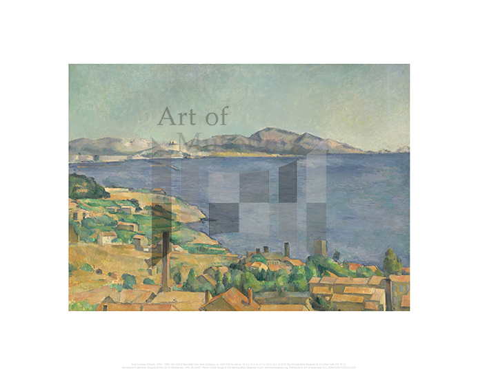 The Gulf of Marseilles Seen from L'Estaque, Paul Cezanne
