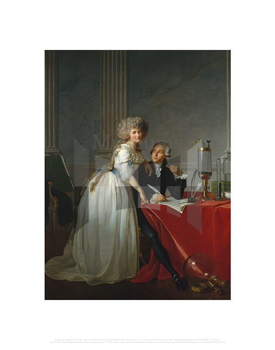 Antoine Laurent Lavoisier and His Wife (Marie Anne Pierrette Paulze), Jacques Louis David