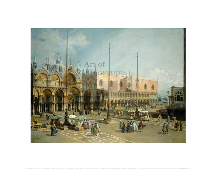 The Square of Saint Mark's, Venice, Giovanni Antonio Canal, known as Canaletto