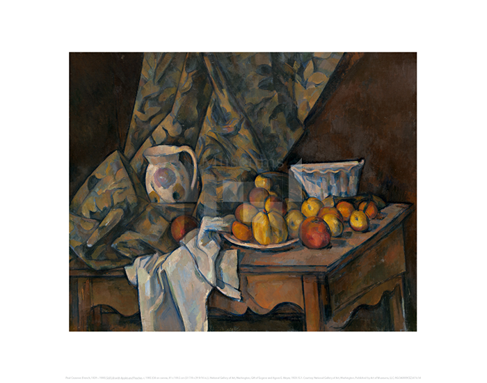 Still Life with Apples and Peaches, Paul Cezanne