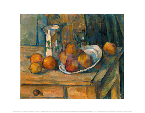 Still Life with Milk Jug and Fruit, Paul Cezanne