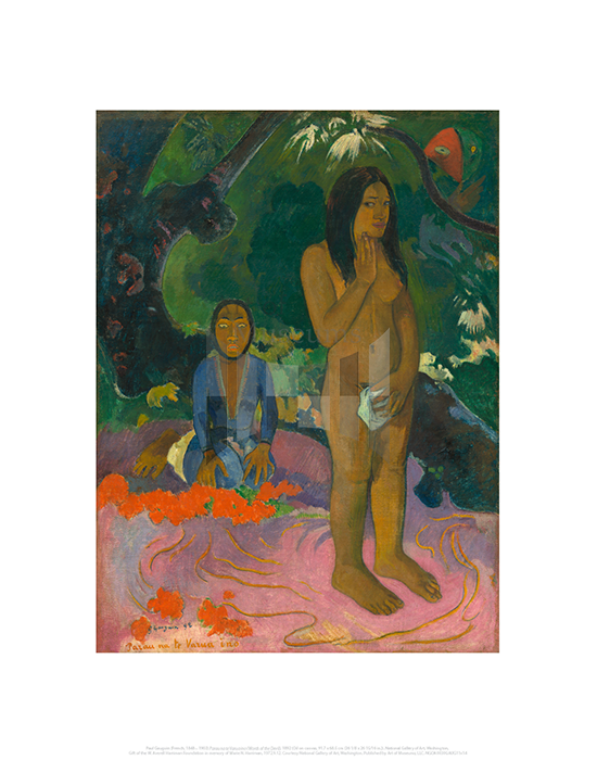 Parau na te Varua ino (Words of the Devil), Paul Gauguin