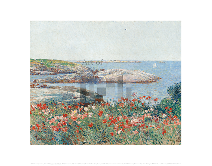 Poppies, Isles of Shoals, Childe Hassam