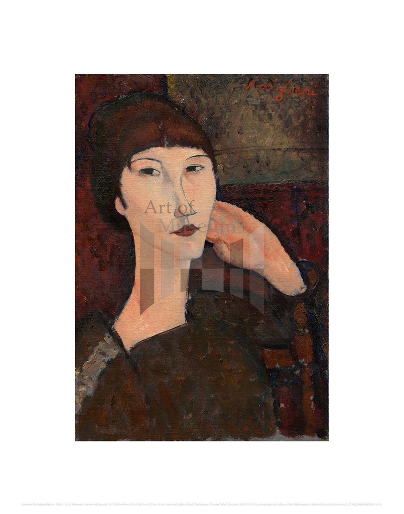 Adrienne (Woman with Bangs), Amedeo Modigliani