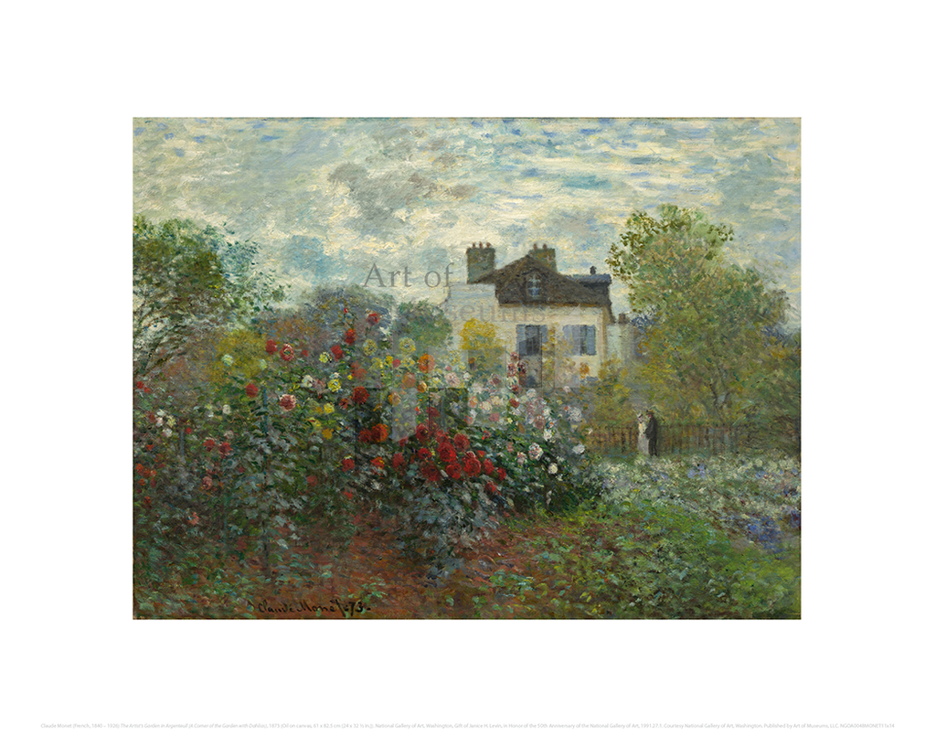 The Artist's Garden in Argenteuil (A Corner of the Garden with Dahlias), Claude Monet