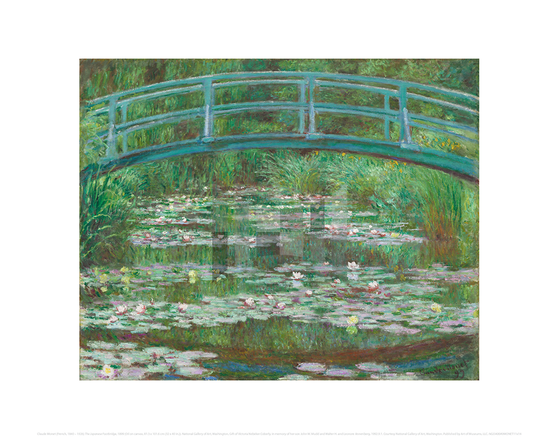 The Japanese Footbridge, Claude Monet