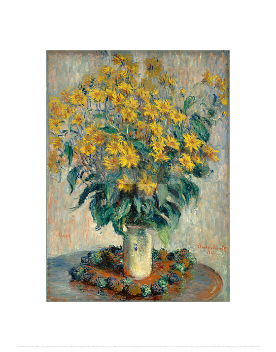 Jerusalem Artichoke Flowers, Claude Monet